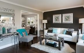 Картинка дизайн, стиль, диван, кресло, гостиная, декор