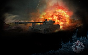 Картинка WoT, World of Tanks, Bat Chatillon 25 t, Мир Танков