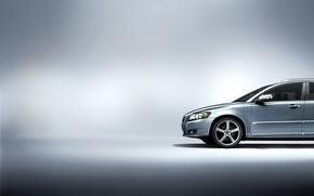 Картинка машины, серый, фон, volvo, v50