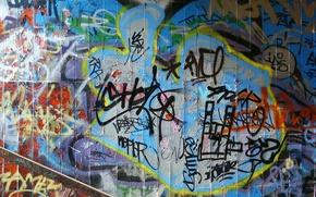 Обои фон, стены, краски, несуразица, граффити