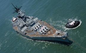 Картинка линкор, (BB-61), USS Iowa, «Айова»