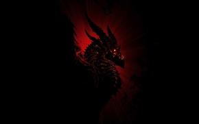 Обои Смертокрыл, world of warcraft, warcraft, Deathwing, Черный дракон, аспект, фентези, MMORPG