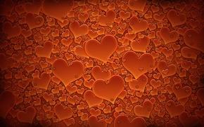 Обои красный, сердечки, день валентина, текстуры