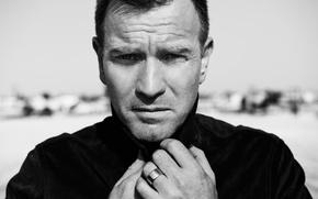 Обои фото, Malibu, Ewan McGregor, Frederic Auerbach, актер, Юэн МакГрегор, черно-белое, портрет