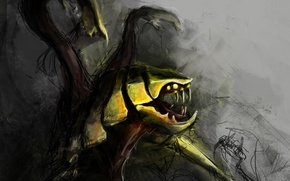 Картинка арт, Dota 2, Venomancer, Digl