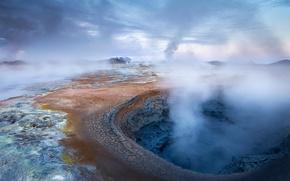 Картинка Исландия, источник, геотермальный