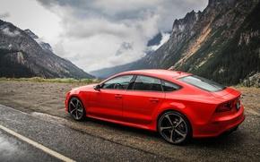 Картинка Audi, Горы, Красная, RS7