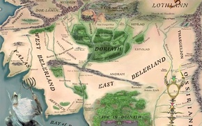 Картинка карта, Властелин Колец, The Lord of the Rings, John Ronald Reuel Tolkien, Кристофер Толкин, Christopher …