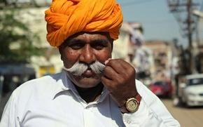 Картинка man, clock, mustache, turban