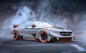 Картинка Car, Mercedes-Benz, Future, AMG, by Khyzyl Saleem, Silver, Tuning, S63