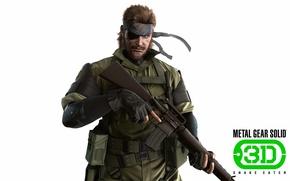 Картинка gun, game, soldier, weapon, war, Snake, spy, Metal Gear, man, hero, M16, rifle, warrior, belt, …