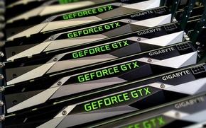 Картинка Nvidia, GeForce, Gigabyte, Hi-Tech, Personal Computer, GTX 1080, Видеокарты, PC