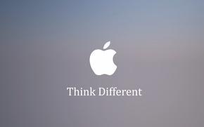 Картинка Apple, яблоко, Think Different, слоган.