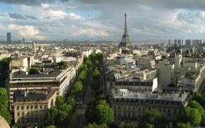 Картинка улицы, париж, город, эйфелева башня, франция