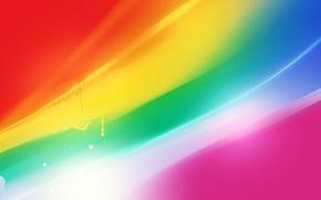 Картинка волны, цвета, линии, блики, насыщенный, яркость