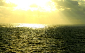 Картинка море, солнце, свет, тучи