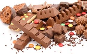 Картинка cream, food, candies, десерт, конфеты, dessert, сладкое, chocolate, 1920x1080, sweet, еда, шоколад, крем, рулет, roll