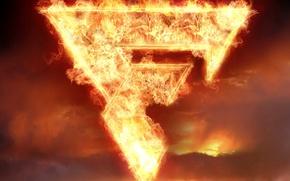 Обои буква, Fantomas, Фантомас, огонь