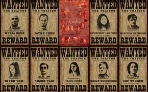 Картинка награда, команда, Светлячок, сериал, розыск, Firefly