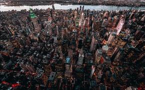 Обои город, здания, дома, США, Нью Йорк, высотки
