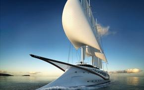 Картинка океан, отдых, яхта, concept, паруса, путешествие, Phoenicia, sailing yacht