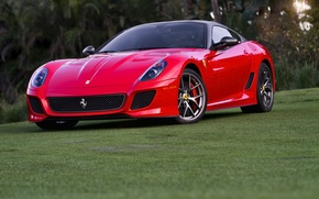 Картинка Ferrari, red, 599, GTO, front