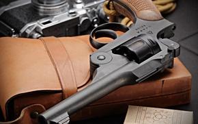Картинка оружие, макро, ствол, револьвер
