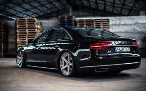 Картинка Audi, ауди, TDI, wheels, black, rearside