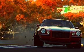 Картинка game, red, muscle car, vehicle, Gran Turismo 6, car, pozzi motorsports camaro rs, sport