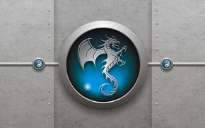 Картинка знак, дракон, инь