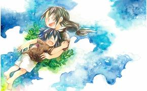 Картинка радость, счастье, рисунок, братья, naruto, art, sasuke uchiha, itachi uchiha, uchiha brothers