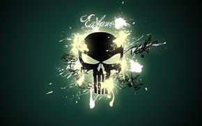 Обои надписи, Skull, Keuule, череп, art