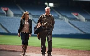 Картинка поле, спорт, бейсбол, кадр, трибуны, стадион, Clint Eastwood, Клинт Иствуд, Amy Adams, Эми Адамс, Trouble …