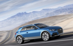 Картинка Car, Road, Shooting Brake Show, Audi Allroad Quattro