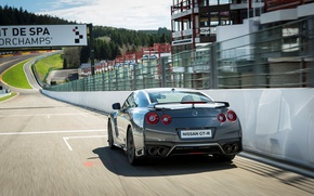 Картинка car, машина, скорость, трасса, Nissan, GT-R, speed, track