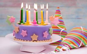 Картинка свечи, торт, cake, sweet, decoration, Happy, День Рождения, Birthday
