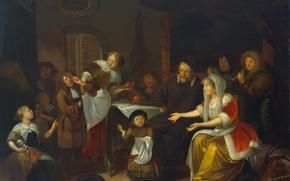 Картинка картина, мифология, Рихард Бракенбург, Праздник Святого Николая