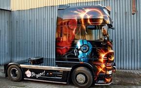 Картинка Truck, Scania, Other Technics, Big Baby, Customize Paint