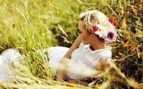 Картинка лето, девушка, настроение