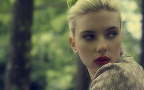 Картинка актриса, Скарлетт Йоханссон, woman, blue, eyes, blonde, scarlett johansson, actress, celeb