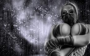 Картинка темный фон, маска, mortal kombat, китана, kitana