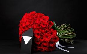 Картинка письмо, подарок, романтика, розы, букет, colorful, red, 8 марта, красивые, beautiful, конверт, luxury, lovely, roses, …