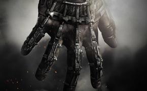 Обои пальцы, Mitchell, Sledgehammer, Raven, рука, Activision, дым, Call of Duty: Advanced Warfare, солдат, Митчелл, экзоскелет, ...
