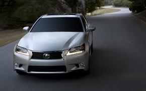 Картинка дорога, Lexus, Лексус, седан, 350
