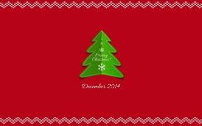 Картинка новый год, ёлка, снежинка, декабрь