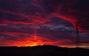 Картинка небо, облака, утро, California, Santa Cruz
