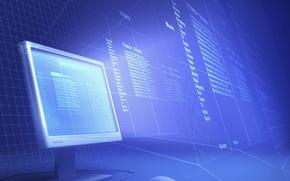 Картинка компьютер, текст, сетка, структура, мышь, монитор, проекция, каталог, файловая система