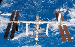 Картинка Мкс, станция, на орбите, земля с космоса