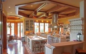 Картинка дизайн, стиль, вилла, интерьер, кухня, столовая, жилое пространство