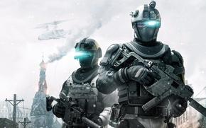 Картинка Игры, Москва, Солдаты, Ubisoft, Tom Clancy's Ghost Recon Future Soldier